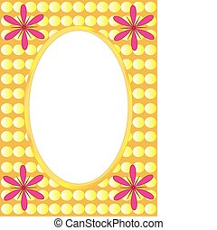 Postcard background, frame for text