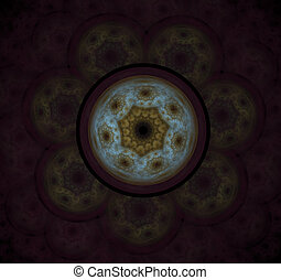 The atomic nucleus. Abstract representation. Image molecules...