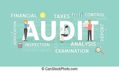Audit concept illustration. Idea of taxes, examination and...