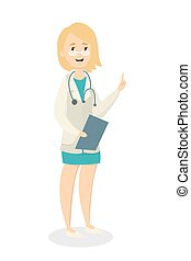 Isolated female doctor. - Isolated female doctor in uniform...