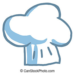 Fluffy Chef Hat - Clipart Illustration-Chef's Hat