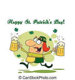 Female Leprechuan With Beer