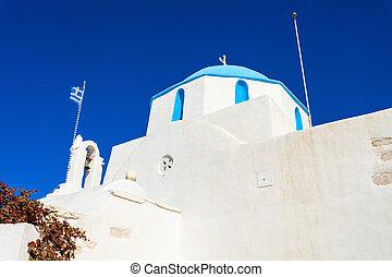 Parikia old town, Paros - White catholic church in Parikia...