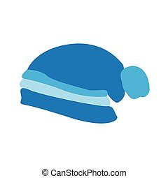 Winter hat icon - Isolated winter hat on a white background,...