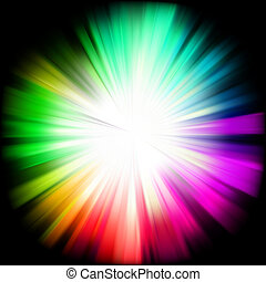 A multicolor design with a burst. EPS 8