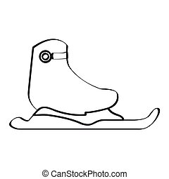 Isolated ice skate on a white background, Vector...