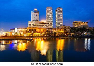 Colombo city skyline view - Colombo city skyline and Beira...