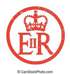 Elizabeth's Reign Emblem Rubber Ink Stamp - The seal found...