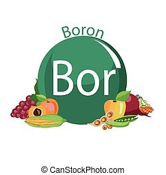 healthy food - Food rich with a boron. Healthy Food series.
