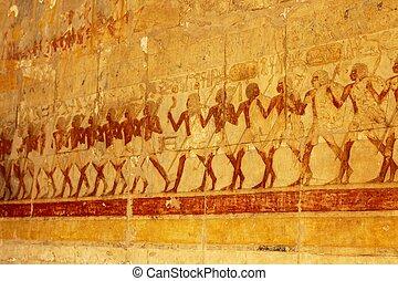 alívio, Hathepsut, necrotério, Templo