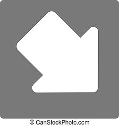Pointer, arrow in modern flat style. Arrow button isolated...