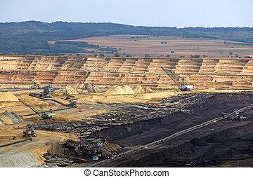 Open pit coal mine Kostolac Serbia
