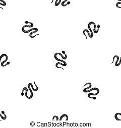 Black writhing snake pattern seamless black - Black writhing...