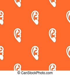 Ear pattern seamless - Ear pattern repeat seamless in orange...