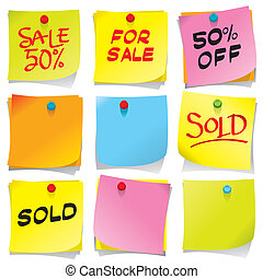 Sticky Notes - Sticky notes collection, more sale images in...