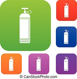 Compressed gas container set color collection - Compressed...