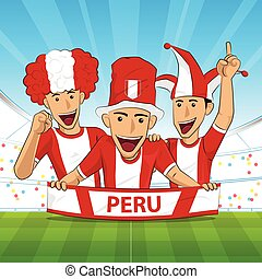 peru football support - peru Flag. Cheer football support...