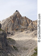 Dachstein Hunerkogel mountain station with the Austrias...