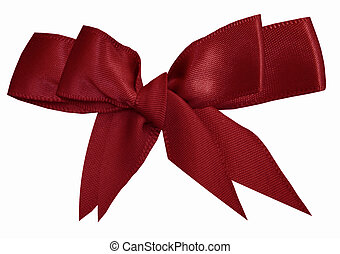 Puple two cloth bow, object isolated