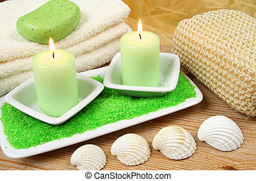 Candles in spa resort
