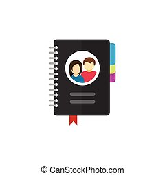Notepad for contacts vector icon illustration isolated on...