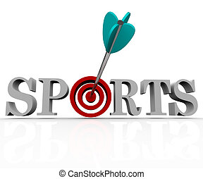 Sports - Arrow in Bulls-Eye