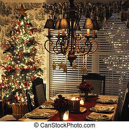 Christmas dinner - Place setting for Christmas dinner