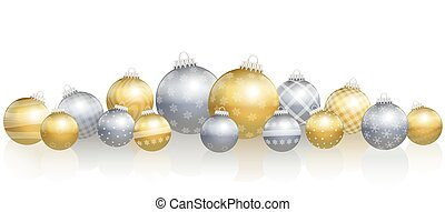 Christmas Balls Loosely Arranged Gold Silver - Christmas...