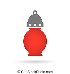 cemetery candle, All Saints' Day lantern- vector...