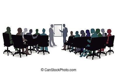 Seminar-Meeting.eps - Business Seminar, Meeting Discussion,...