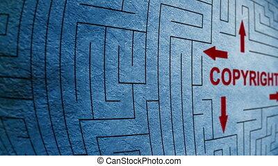 Copyright maze concept