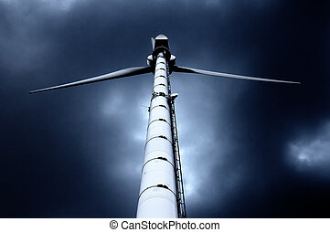 Wind Power Generator against dramatic sky