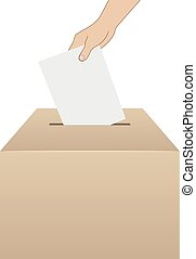 vote concept vector - elections voting vector, hand putting...