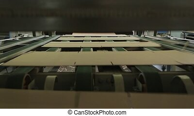 Manufacture of cardboard boxes. Cardboard manufacturing...