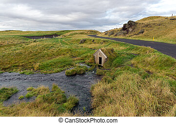 Babbling Brook House - A house like structure that is being...