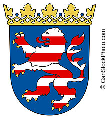 Hesse coat of arms - German state of Hesse coat of arms,...