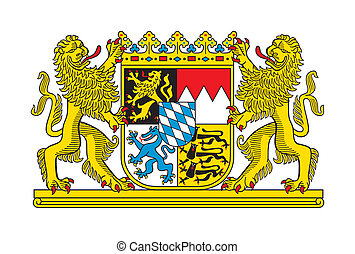 Bavaria coat of arms - State of Bavaria coat of arms,...