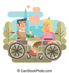 Wheelchair couple dating - Differently abled couple on...