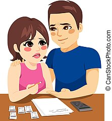 Couple Financial Problems - Couple with financial problems...