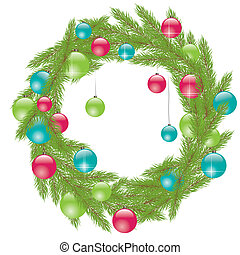 Christmas Fur-tree Vector illustration - Christmas Fur tree...