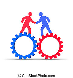 trabajo en equipo, sinergia