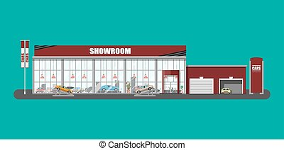 Exhibition pavilion, car dealership - Exhibition pavilion,...