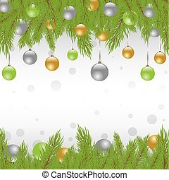 Christmas Fur-tree. Vector illustration - Christmas Fur tree...