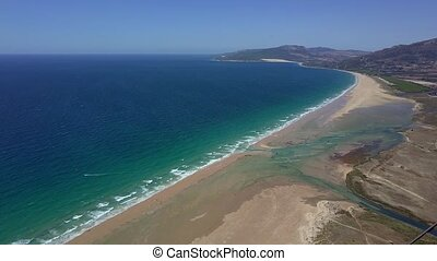 Panorama of turquoise sea - Wonderful shot taken from drone...