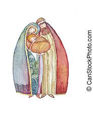 Christmas, Jesus Christ , Joseph, M