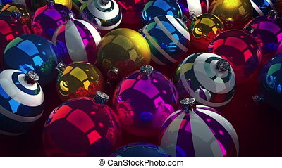 """Happy New Year colorful balls"" - ""Festive 3d rendering of..."