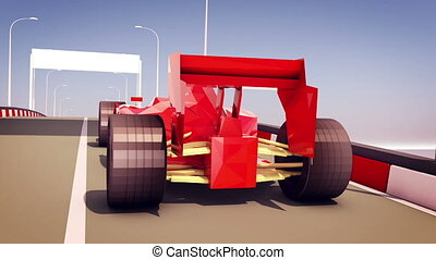 """Formula One Autobahn Race"" - ""Effective 3d rendering of..."