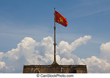 Vietnam Flag - Vietnam flag on flag pole in Hue Citadel
