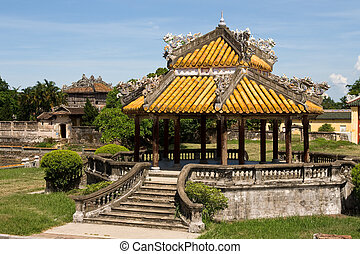 Vietnam Citadel - Historic architecture inside The Royal...