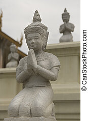 Cambodia Statues - Royal Palace Buddhidt Statue, Cambodia